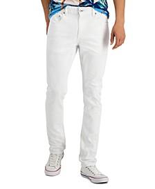 Men's White Denim Skinny-Fit Jeans, Created for Macy's