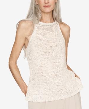 B New York Sleeveless Sweater In Cashew Combo
