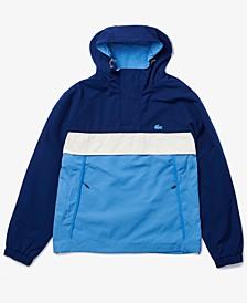 Men's Colorblocked Water-Resistant Hooded Jacket
