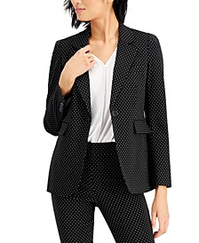Printed Single-Button Blazer, Created For Macy's