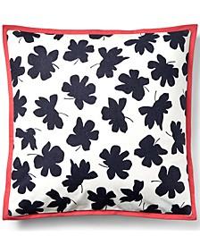 "Carter Floral 18"" Square Decorative Throw Pillow"