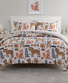 Little Campers Woodland 2 Piece Comforter Set, Twin