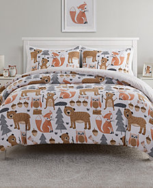 VCNY Home Little Campers Woodland 2 Piece Comforter Set, Twin