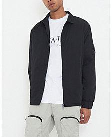 Men's Harrington Jacket with Utility Sleeve Pocket