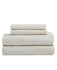 Soft Wash Vintage Floral Lace Sheet Set, Twin
