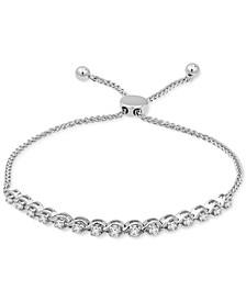 Diamond Bolo Bracelet (1/2 ct. t.w.) in 10k White Gold