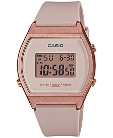 Women's Digital Blush Resin Strap Watch 35mm