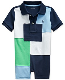 Ralph Lauren Baby Boys Patchwork Cotton Polo Shortall