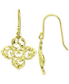 Filigree Flower Drop Earrings, Created for Macy's