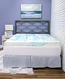 "4"" Gel Swirl Memory Foam King Mattress Topper"