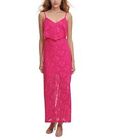 Lace Popover Maxi Dress