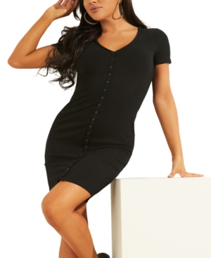 Guess RAYLYNN HENLEY RIBBED DRESS
