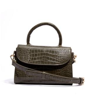 Croc-embossed Vegan Leather Top Handle Mini Satchel