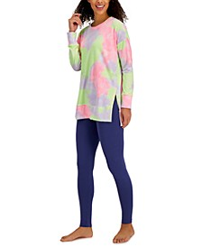 Super Soft Multi-Color Tunic Pajama Top & Leggings, Created for Macy's