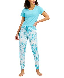 Ribbed Pajama T-Shirt & Jogger Pajama Pants, Created for Macy's