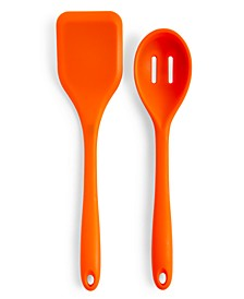 Silicone Solid Turner & Slotted Spoon, Set of 2