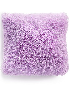 """Faux-Fur 18"""" Square Decorative Pillow, Created for Macy's"""