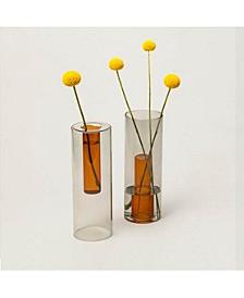 Reversible Vase, Grey/Orange