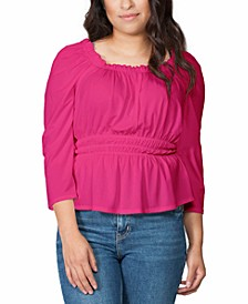 Black Label Square-Neck Puff Sleeve Top