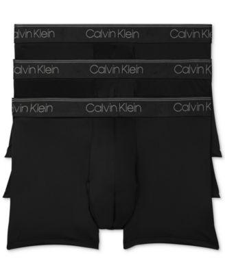 캘빈 클라인 Calvin Klein Mens 3-Pack Microfiber Stretch Low-Rise Trunks