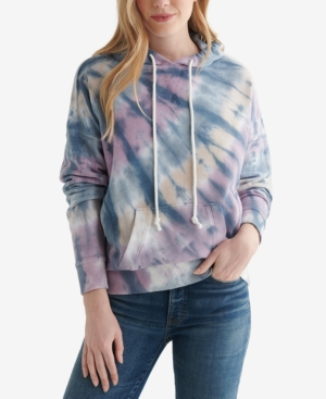 Lucky Brand TIE-DYED COTTON HOODIE