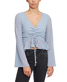 Drawstring-Front Crop Top