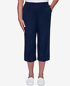 Petite Anchor's Away Cuffed Capri Pants