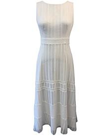 Petite Embroidered Chiffon Maxi Dress