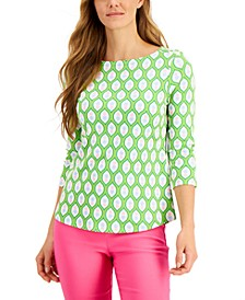 Cotton Pineapple-Print Top, Created for Macy's