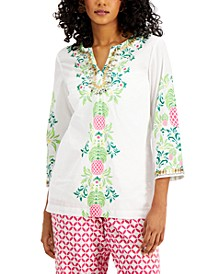 Cotton Embellished Tunic, Created for Macy's