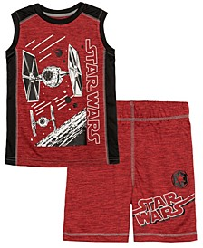 Little Boys Star Wars Active Tank Top and Shorts Set, 2 Piece