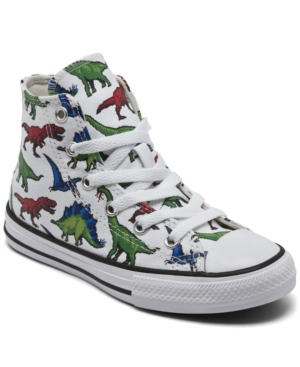 Converse LITTLE BOYS 8-BIT DINO CHUCK TAYLOR ALL STAR CASUAL SNEAKERS FROM FINISH LINE