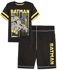 Little Boys Batman Knight Active T-shirt and Shorts Set, 2 Piece