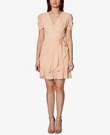 Petite Faux-Wrap Crepe Dress