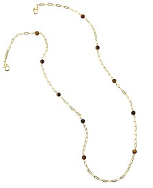 14K Gold Plated Tiger Eye Mask Chain