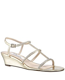 Women's Fiona Metallic Wedge Sandal
