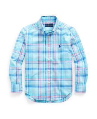 폴로 랄프로렌 Polo Ralph Lauren Toddler Boys Plaid Cotton Poplin Shirt,Multi