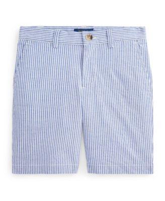 폴로 랄프로렌 Polo Ralph Lauren Little Boys Slim Fit Stretch Cotton Seersucker Short,White/provincetown Blue