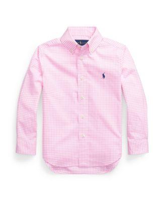 폴로 랄프로렌 Polo Ralph Lauren Toddler Boys Gingham Cotton Poplin Shirt