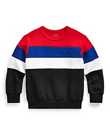Little Boys Color Blocked Double Knit Sweatshirt