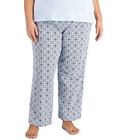 Plus Size Cotton Knit Pajama Pants, Created for Macy's