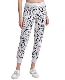 Animal-Print Jogger Pants