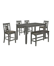 CLOSEOUT! Arrowhead Dining Table + 4 Side Chairs + Bench, Created for Macy's