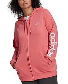Essentials Plus Size French Terry Logo-Sleeve Hoodie