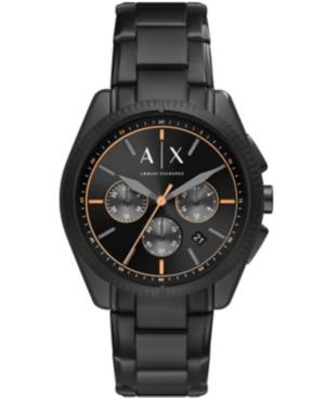 Ax Men's Chronograph Black Stainless Steel Bracelet Watch 42mm