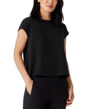 Eileen Fisher ORGANIC CREWNECK BOXY TOP