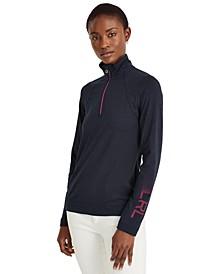 Petite Quarter-Zip Long Sleeve Top