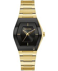 Women's Futuro Gold-Tone Stainless Steel Bracelet Watch 30mm