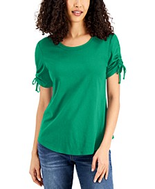Ruched-Sleeve T-Shirt, Created for Macy's