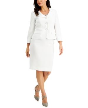 Three-Button Skirt Suit